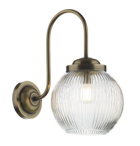 Henley single wall light in antique brass HEN0775 (7-10 day delivery)